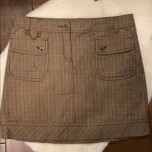 Mexx mini plaid skirt size 10